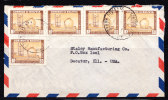 RJ)1955,CIR.COVER BOLIVIA TO USA,OIL REFINERY,MULTIPLE. - Bolivia