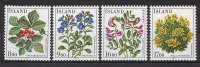 ISLANDE 1985 - Flore, Fleurs - 4v Neuf ** (MNH) - Islande