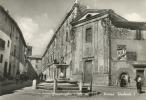 SCANDRIGLIA (RIETI). BELLO SCORCIO DI PIAZZA UMBERTO PRIMO NEGLI ANNI '50. CARTOLINA DEL 1955 - Altre Città