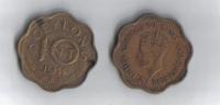 CEYLON 10 CENTS 1944  COIN  -  VERY FINE CONDITION - Coins