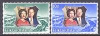 Falkland Islands 223-4   **  SILVER WEDDING - Falkland Islands