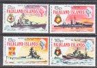 Falkland Islands 237-40   **  WAR  SHIPS - Falkland Islands