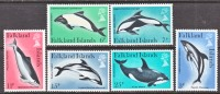 Falkland Islands 298-303  **  FAUNA  SEA LIFE  DOLPHINS  WHALES - Falkland Islands
