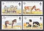 Falkland Islands 314-7  **  FAUNA  SHEEP  DOGS  COW  HORSES - Falkland Islands