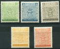 Suede (1955) N 399 à 403 * (charniere)