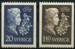 Suede (1955) N 404 à 405  * (charniere)