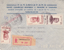 MADAGASCAR - 1952 - ENVELOPPE RECOMMANDEE Par AVION De TANANARIVE Pour MARSEILLE - Madagascar (1889-1960)