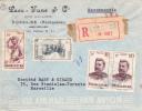 MADAGASCAR - 1951 - ENVELOPPE RECOMMANDEE COMMERCIALE Par AVION De NOSSI-BE Pour MARSEILLE - Covers & Documents