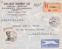 MADAGASCAR - 1951 - ENVELOPPE RECOMMANDEE Par AVION De SAMBAVA Pour MARSEILLE - Madagascar (1889-1960)