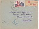 MADAGASCAR - 1957 - SEUL Sur ENVELOPPE RECOMMANDEE Par AVION De ANDRIAMENA Pour MARSEILLE - Madagascar (1889-1960)