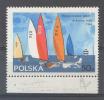 POLONIA POLSKA 1965 VELA RARA VARIETÀ SWIAT (MICHEL 1589/I) NUOVO SPLENDIDO GOMMA INTEGRA VARIETY MINT NEVER HINGED(G102 - Nuovi