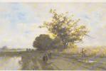 Eugene Ciceri   Musée Barbizon  Chemin Dans La Plaine - Peintures & Tableaux