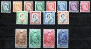 New Zealand 1953 Queen Elizabeth II Set Of 16 Used - New Zealand