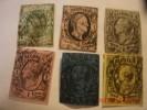 SAXONY, SCOTT# 2,5,9,10,11, & 12, USED - Saxony