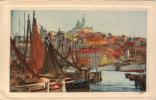 13  MARSEILLE Vieux Port Notre  Dame De La Garde Dessin Litho - Vieux Port, Saint Victor, Le Panier