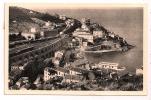 66 - CERBÈRE - La Pointe Du Phare Et Hôtel Du Belvédère  - Train (petit Plan) - Voyagée En 1950 - - Cerbere