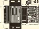 Carte A Decouper           Ed Parmentier    Poste De Radio - Dreh- Und Zugkarten