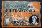 FRAGONARD . GRASSE . MAI 1932 BI-CENTENAIRE DE J.H.FRAGONARD 1732-1932 . VIGNETTE - Erinnofilie