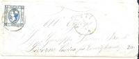 REF LIT 10 / BO - VITTORIO EMANUELE II 15c TYPE II SUR MIGNONNETTE NITTI(?) / LIVORNO 1/10/1863 - Marcophilie