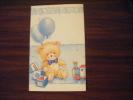 Faire Part De Naissance (decor Ballon Ours Cube Train - Faire-part