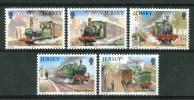 1985 Jersey Treni Trains Railways Set MNH**B213 - Trains