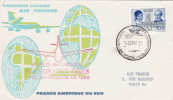 1960 Vuelo Inaugural BUENOS AIRES PARIS Servicio Aeropostal Première Liaison Air France Sur Lettre Avion Argentine - Airmail