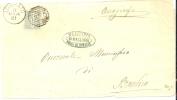 REF LIT 10 / BO - V. E.II 1c SUR LETTRE LOGRATO / BRANVICO 11/3/1881 - 1878-00 Humbert I