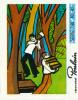 """Chromo, Chocolat POULAIN : Série 240, N° 49, Chanson """"Les Joyeux Bucherons"""", Hache - Poulain"""