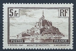 "YT 260 "" Mont-Saint-Michel 5F. Brun  Type I "" 1929-31 Neuf*"