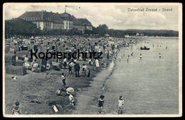ALTE POSTKARTE OSTSEEBAD ZOPPOT STRAND 1929 SOPOT Photograph Fotograf Photographer Photographe Postcard AK Ansichtskarte - Pommern