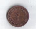 OLD GERMAN  1 PFENNIG 1907 RARE  COIN  GOOD - [ 2] 1871-1918 : German Empire
