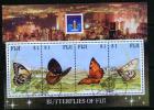 Fiji 1994 Hong Kong Exhibition Butterflies MS Used - Fiji (1970-...)