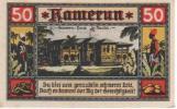 Cameroun - 50 Pfennig Avril 1922 - Maison Du Gouverneur à Douala - Aunc - Kamerun