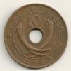 East Africa 10 Cents 1943 SA -  KM#26.2 - Colonia Britannica