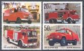 North Korea 1987 Mi No. 2817-2820 Fire Brigade - Automobili