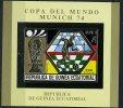 """(B12 -lot 81) Guinée Equatoriale ** Bloc Or ND Surchargé """"Champion : Allemagne"""" - Coupe Du Monde De Foot """"Munich 1974"""" - Equatorial Guinea"""