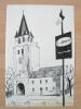 Eglise De SAINT-GERMAIN-DES PRES à PARIS Pub F. De NOBELE : Dessin Original De Victor VIKO (1915-1998) - JUDAICA - Autres Collections