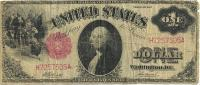 USA  UNITED STATES $1 RED SEAL SERIES 1917 ACT OF MARCH 1863 AF P187 READ DESCRIPTION CAREFULLY !!! - United States Notes (1862-1923)