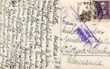 España 1939. Tarjeta Postal De Barcelona A Stuttgart. Censura. - Marcas De Censura Nacional