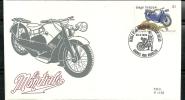 Belgie Belgique Belgium Belgica  1995 Classic Motorcycles Motos FDC La Mondiale 1929 - Motorbikes