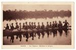 CPA  Gabon- Sur L´Ogooué- Écolières En Pirogue. Non écrite. Voir Verso. - Sudan