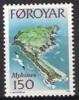 Foroyar Mint 1978 Y&T 28. Isle And Bird - Faroe Islands