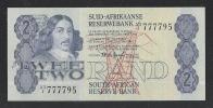 SUDAFRICA - BANCONOTA DA 2 RAND SERIE A3 I - NON CIRCOLATA - IN BUONE CONDIZIONI. - Sudafrica