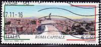 ITALIA - 2011 - Usato  - Roma Capitale - 0,60 € • Roma Dalle Quadrighe Del Vittoriano - 2011-...: Oblitérés