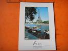 220 )   La Tour Eiffel  Et La Seine : Peniches - Tour Eiffel