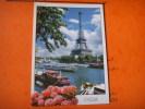 229 )   La Tour Eiffel  Et La Seine : Bateau Mouche :peniche Et Goelette - Tour Eiffel