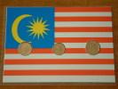 1 Sen 1996 - 5 & 10 Sen 1995 / Real Coins Gold Plated - Verguld - Doré ( For Grade, See Photo ) ! - Malaysie