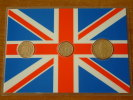 1 Penny 1987 - 5 Pence 1990 - 10 Pence 1992 / Real Coins Gold Plated - Verguld - Doré ( For Grade, See Photo ) ! - 1971-… : Monnaies Décimales