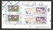 New Zealand 1986 Health Charity Miniature Sheet Child Drawings  MNH - New Zealand