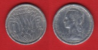 RARISSIME  HYBRIDE 1 Franc Pour La REUNION 1948 Revers REPUBLIQUE FRANCAISE UNION FRANCAISE - Colonies